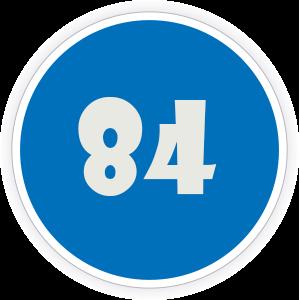 84 Sticker