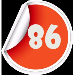 86 Sticker