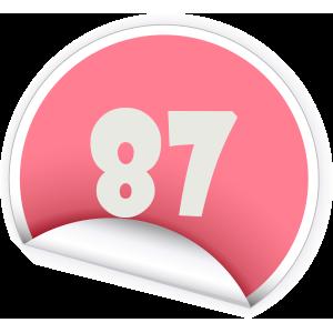 87 Sticker
