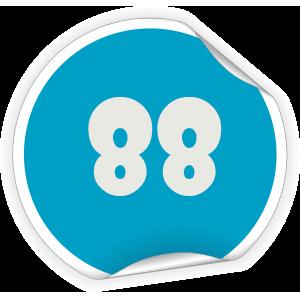 88 Sticker